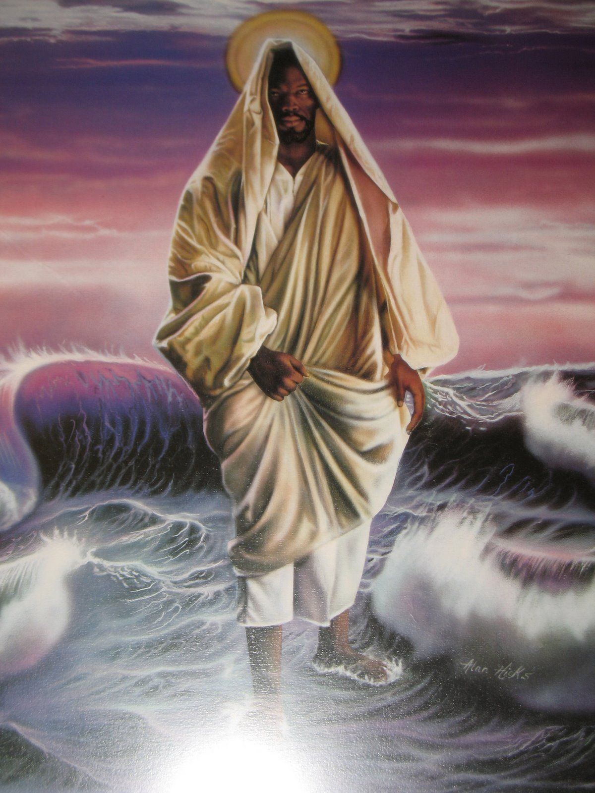 Black Jesus King Of Kings Black Jesus Christ Walking On Water Black Jesus Black Jesus Pictures Jesus Walk On Water