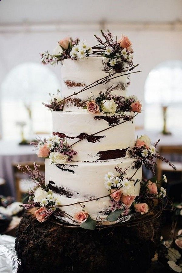 20 Country Rustic Wedding Cake Ideas Country Wedding Cakes Wedding Cake Decorations Tiered Wedding Cake