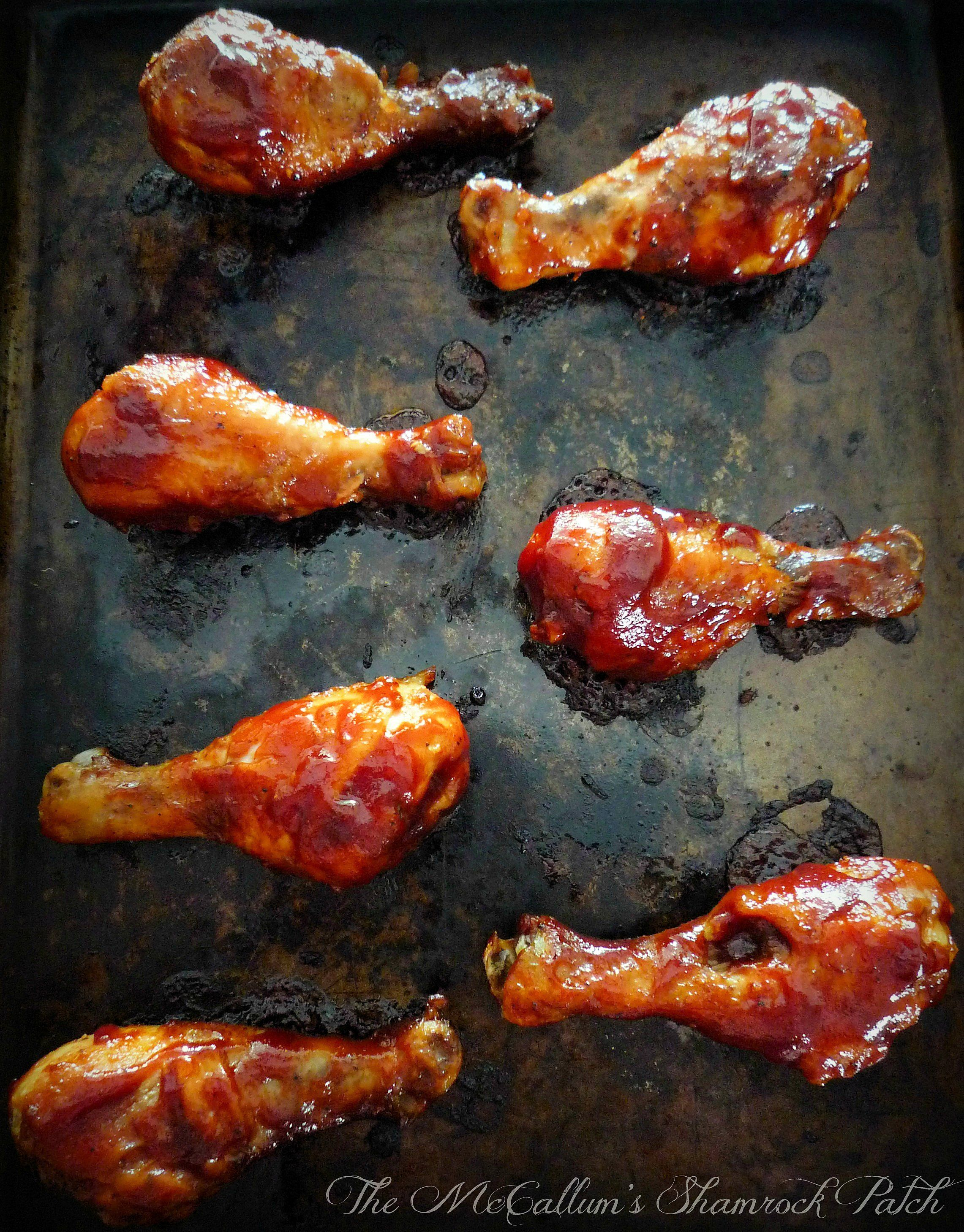 Baked bbq Chicken Legs | Bbq chicken legs, Chicken legs and Bbq ...