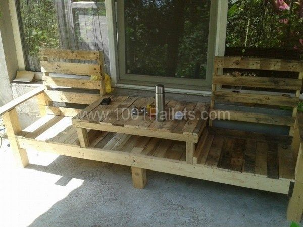 Pallets table bench | 1001 Pallets