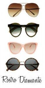 cb18eb08c0 Gafas de sol para rostro en forma de diamante #trendistopic #moda #fashion  #gafasdesol #sunglasses