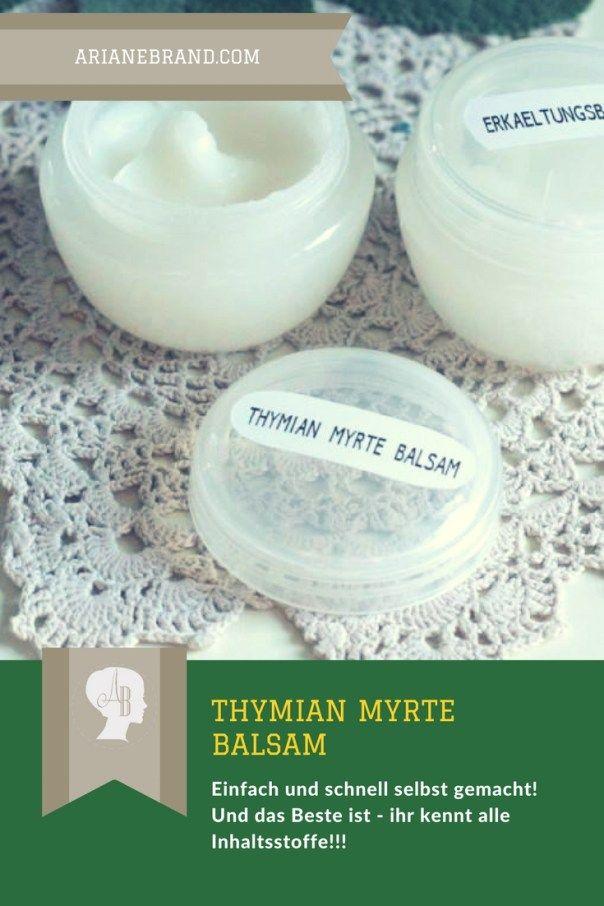 DIY Thymian-Myrte-Balsam selber machen - bonboniere selber machen anleitung