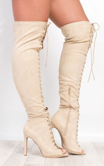 Zakia Faux Suede Knee High Boots