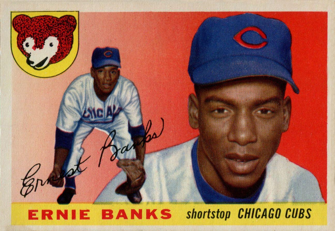 1955 topps ernie banks baseball cards ernie banks baseball