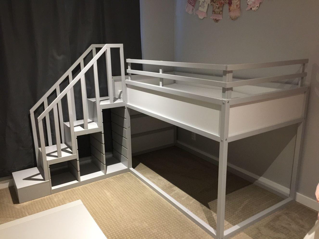 Kura loft bed ideas  IKEA Kura Bunk Bed Hack  Safety Room and Kids rooms