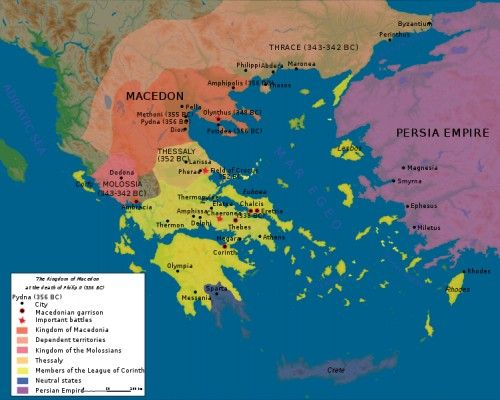 Ancient Greece Map Persian Empire.Philip Ii Of Macedon History Ancient Greece Roman Empire