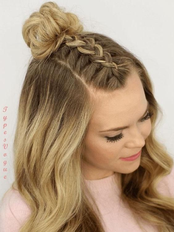 22 Unique Braided Updo Hairstyles Ideas For Holiday In 2018 Top Knot Hairstyles Braided Top Knot Hairstyle Braided Top Knots