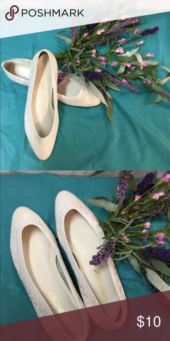 ad8cdb595ed3 I just added this listing on Poshmark  Cabin Creek White flats!.   shopmycloset  poshmark  fashion  shopping  style  forsale  Cabin Creek   Shoes