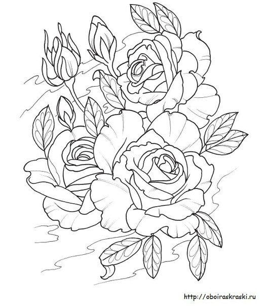 обои и плакаты раскраски для детей и взрослых Rose