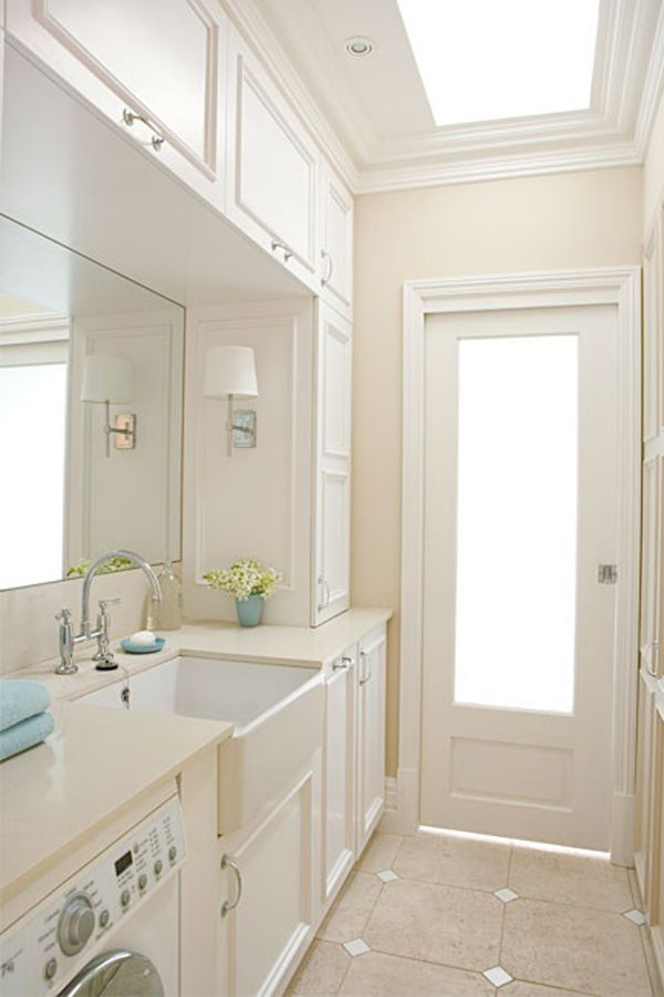 20 Small Laundry with Bathroom Combinations   House Design And Decor #bathroomlaundry