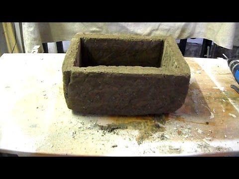 diy pflanztr ge selber machen blumenk sten aus beton bauen youtube beton hypertufa. Black Bedroom Furniture Sets. Home Design Ideas