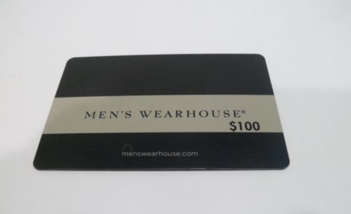 Details about Men's Wearhouse $100 Gift Card