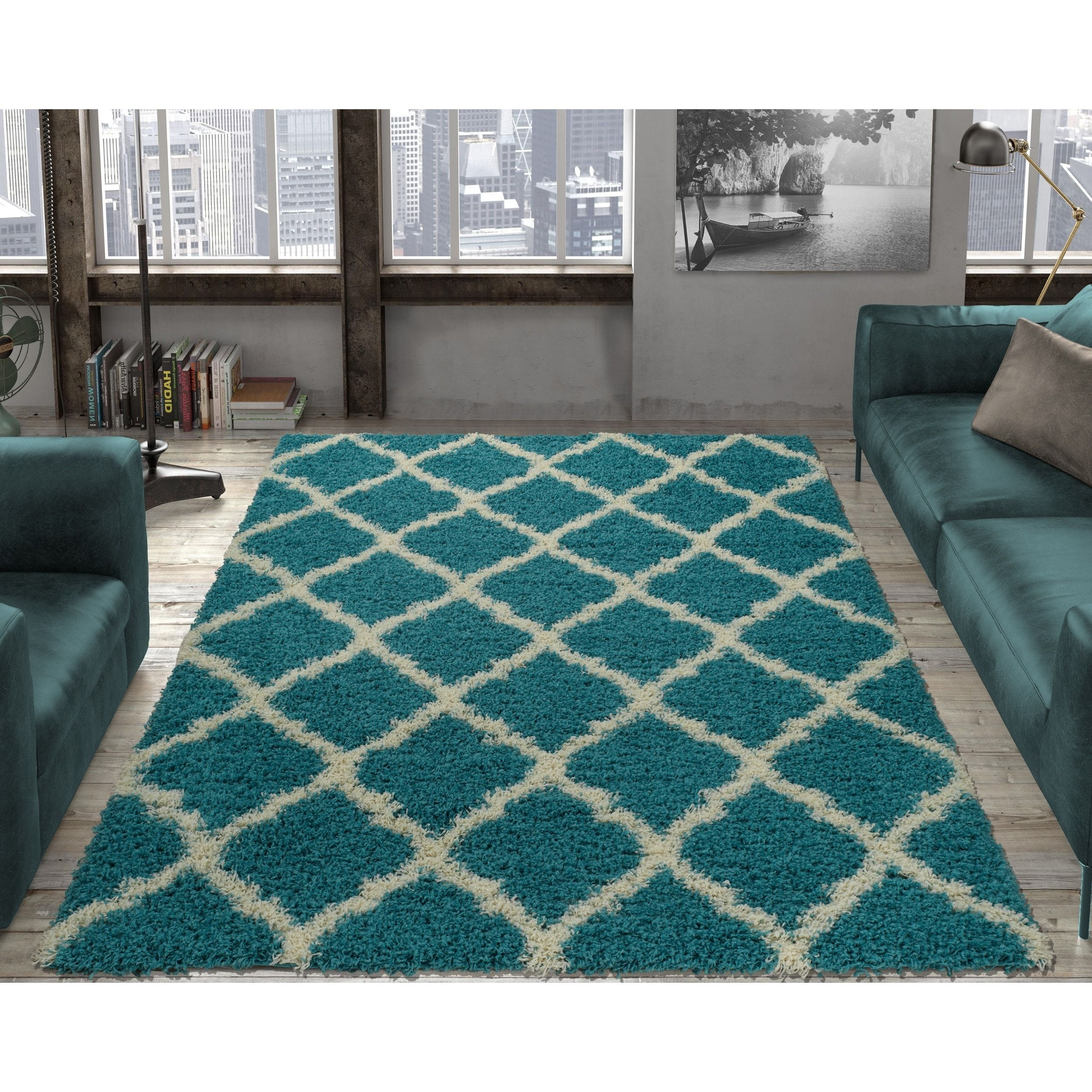 Ottomanson Ultimate Collection Moroccan Trellis Design Kids Area Rug 3 X 5
