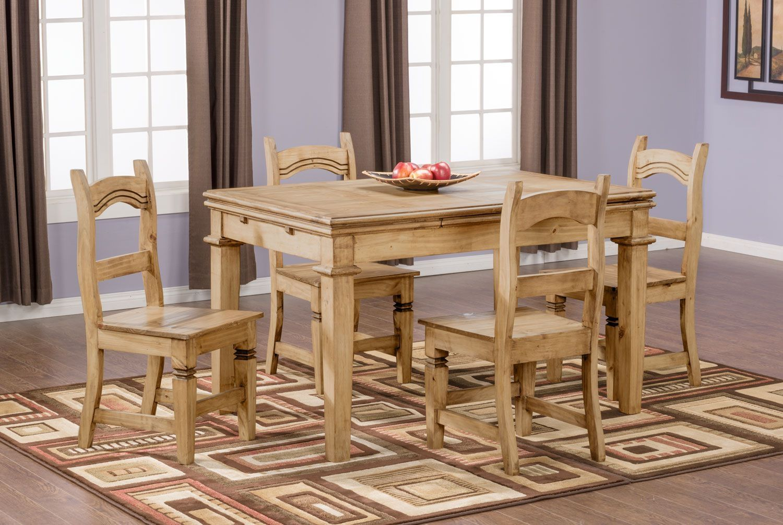 Santa Fe Rusticos 5 Piece Dining Package Wood Dining Room Table Dining Room Small Pine Dining Room