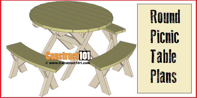 Round Picnic Table Plans StepByStep – Free Round Patio Table Plans