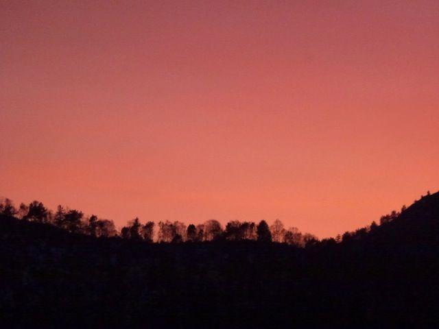 Evening sky  in Bergen,photo:UNNI HOFF