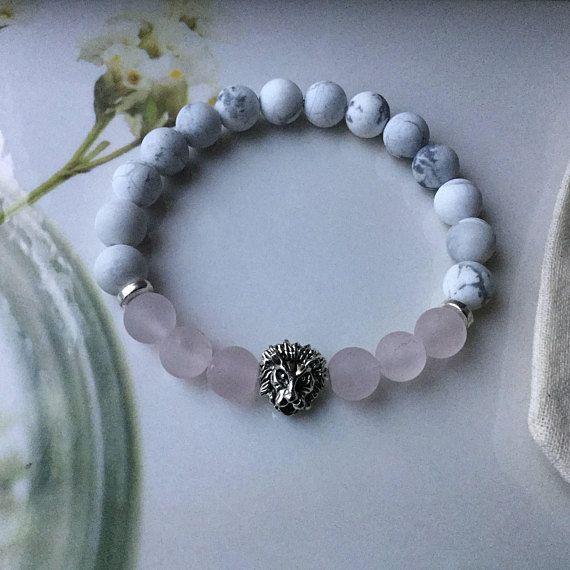 bracelet femme pierre quartz rose