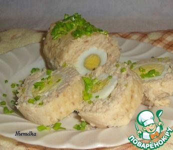 Рулет рыбный в рукаве - Горячие закуски от 1001 ЕДА   300x346