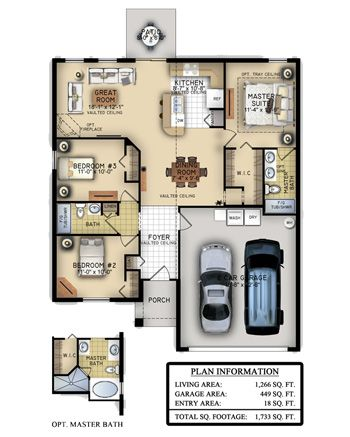 The Charlotte Is A Beautiful 3 Bedroom 2 Bathroom Home Perfect For First Time Home Buyers The Open Floor Plan Is Floor Plans Free Floor Plans Southern Homes