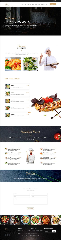 Slice Restaurant Responsive Bootstrap Template