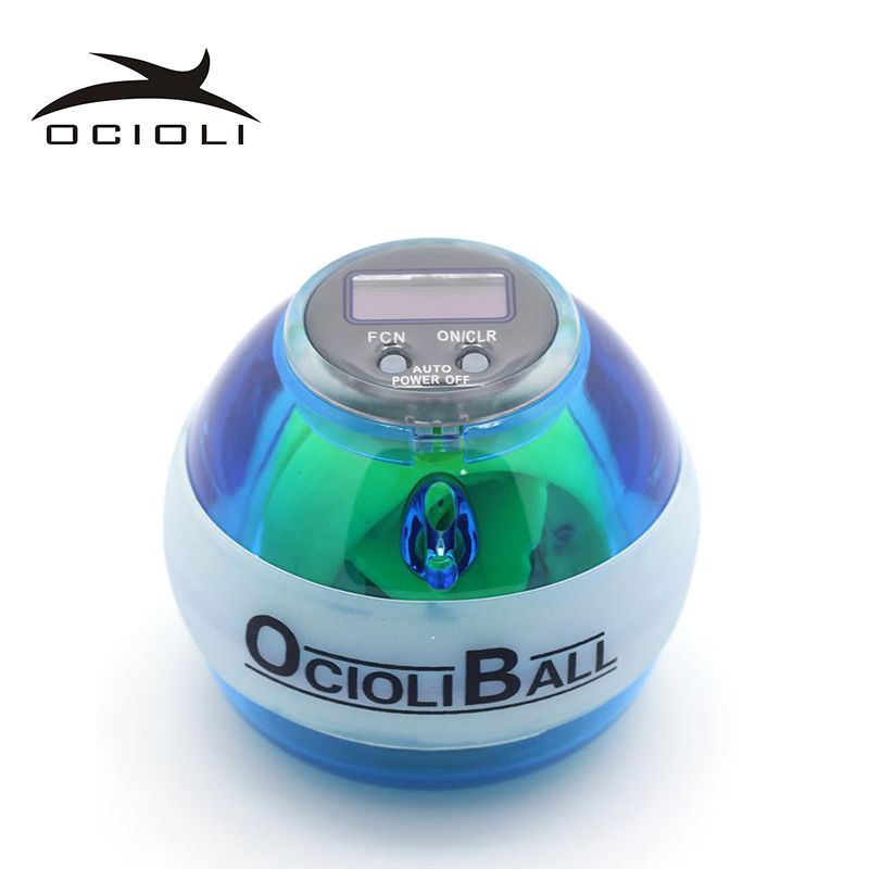 LED Gyroscope Force Ball Wrist Arm Exercise Strength Digital Speed Meter Counter