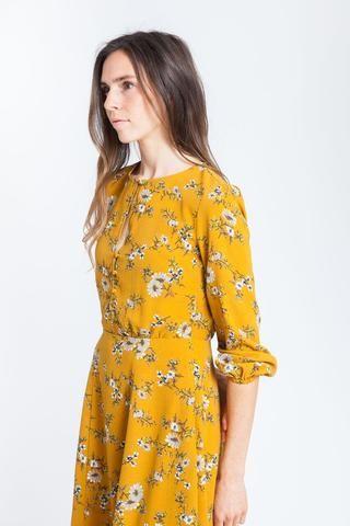 Daya Dress Mustard
