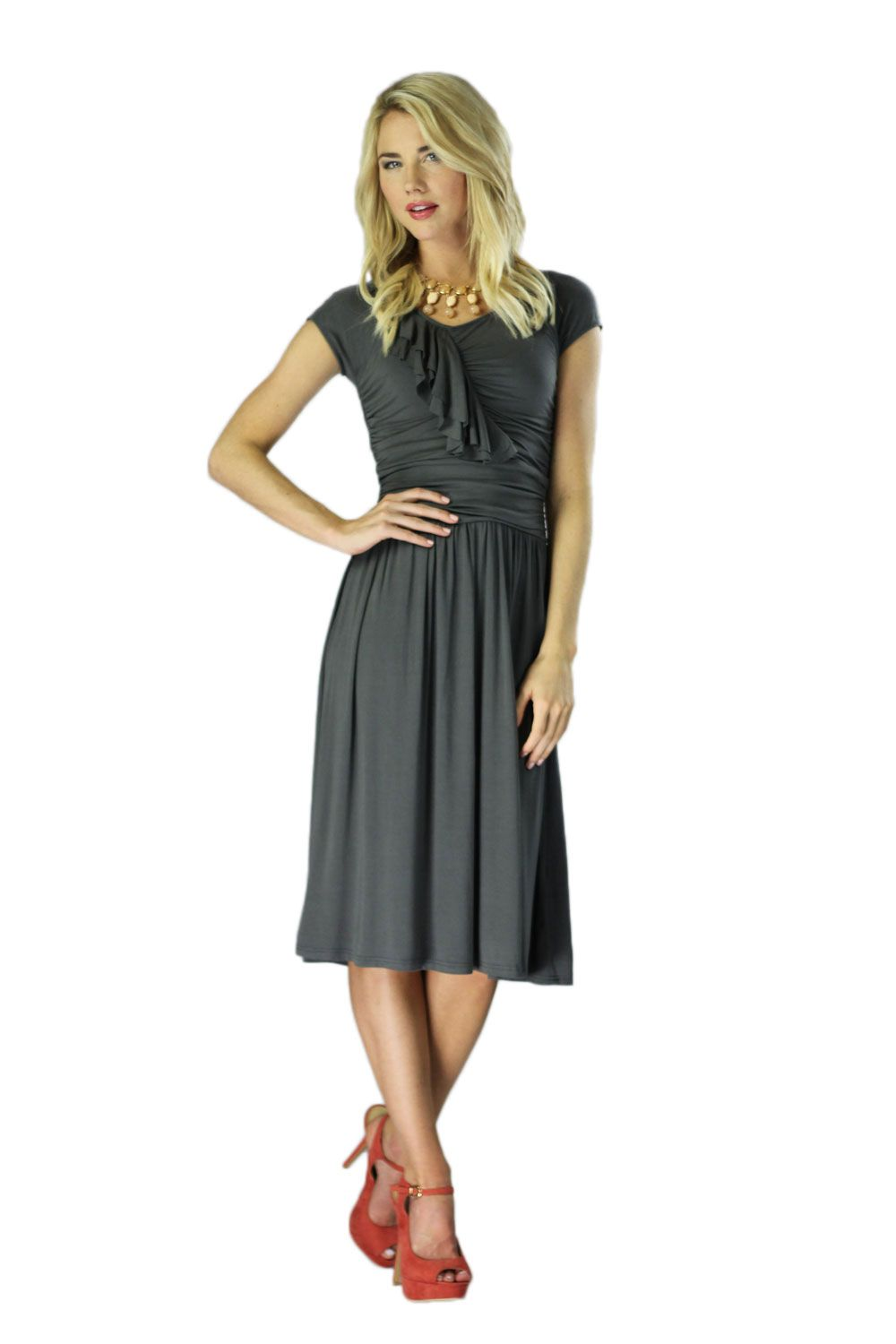 Modest Dresses In Grey Type 2℠ Soft Subtle Woman