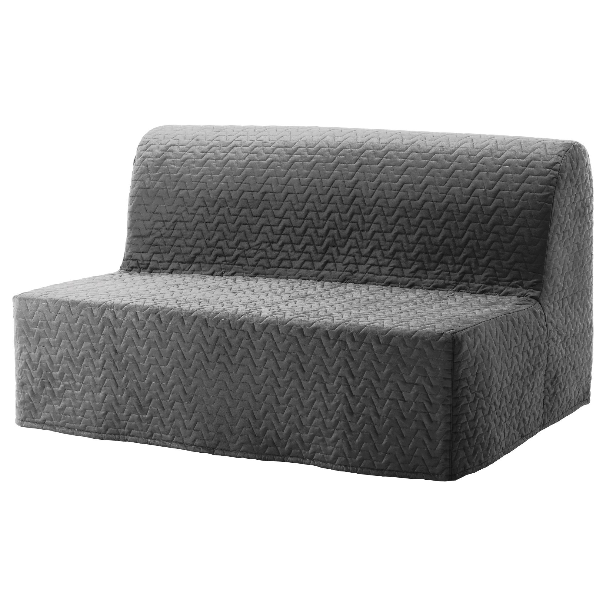 lycksele two seat sofa bed cover vallarum grey grey art and gray