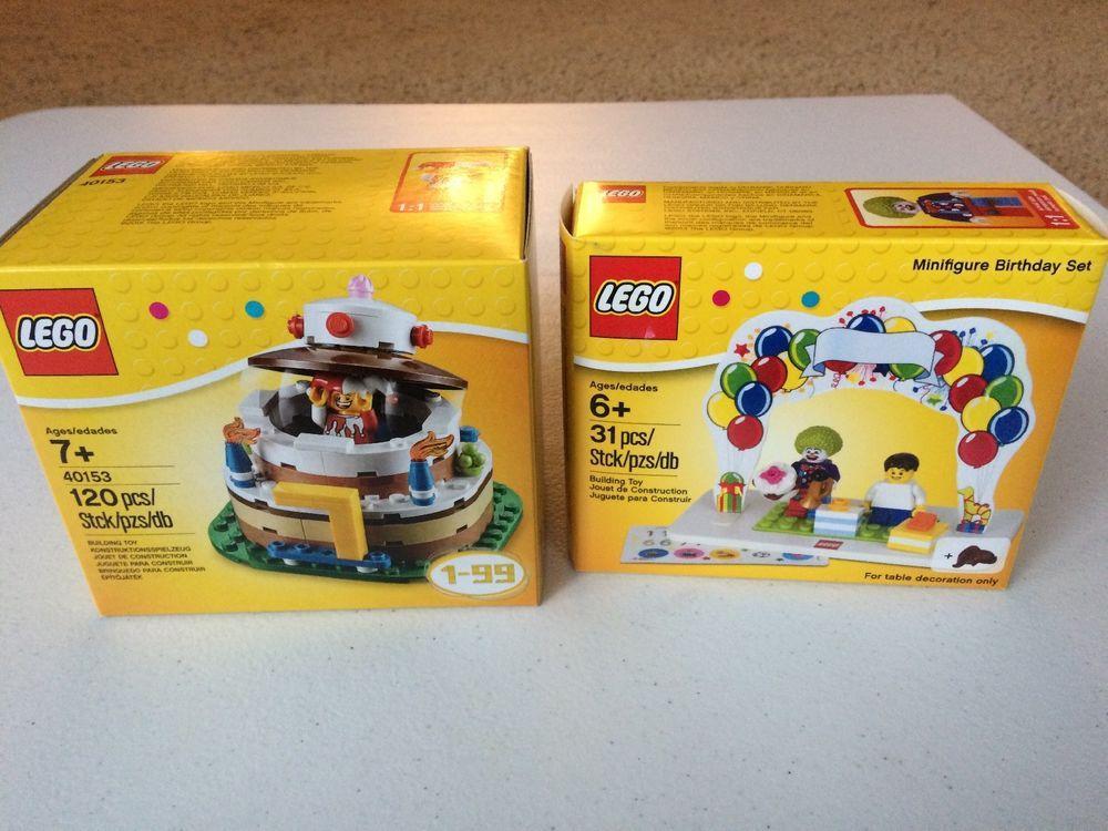 LEGO Birthday Cake DECO Jester Clown Boy Girl Minifigures Lot Of 2 850791 40153