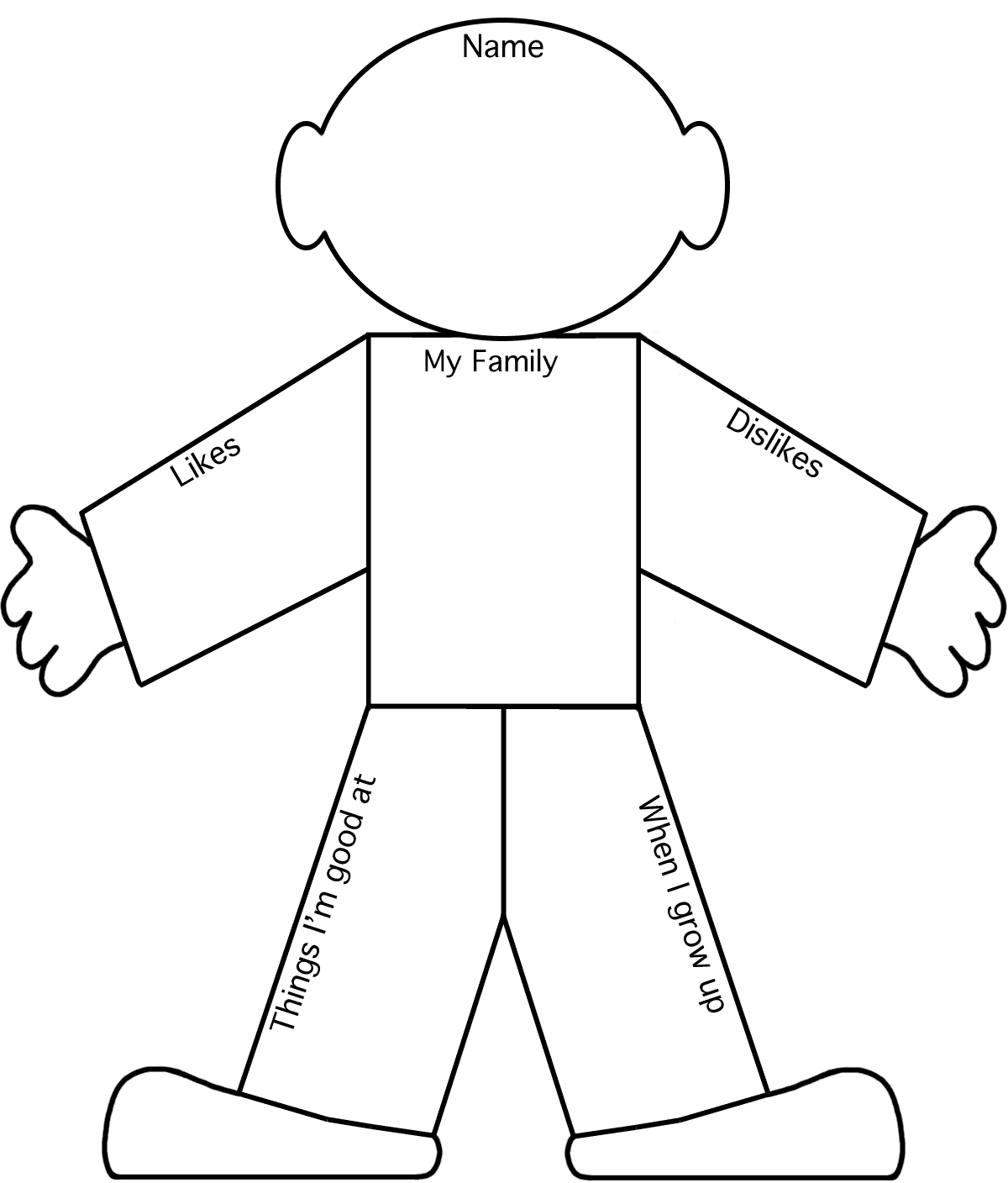All about me graphic organizer. I have also used this one