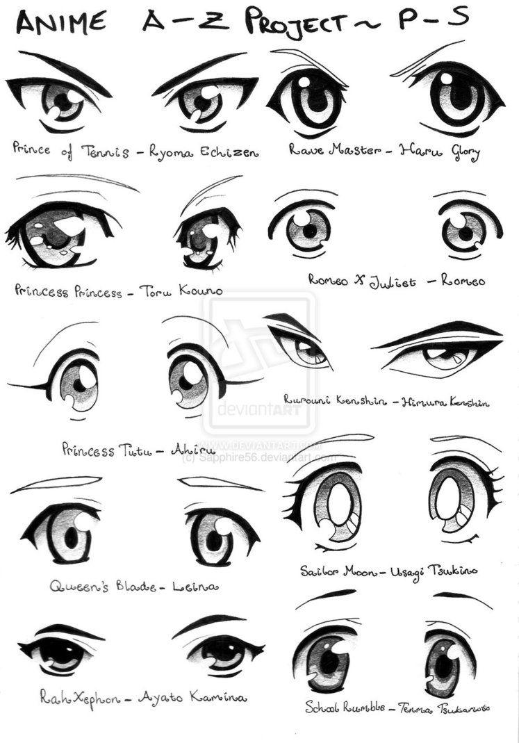 Como Desenhar Manga Exemplos Olhos 02 Desenho De Olhos Anime