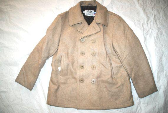 Us Navy U.S 740N Wool Peacoat - Size 46
