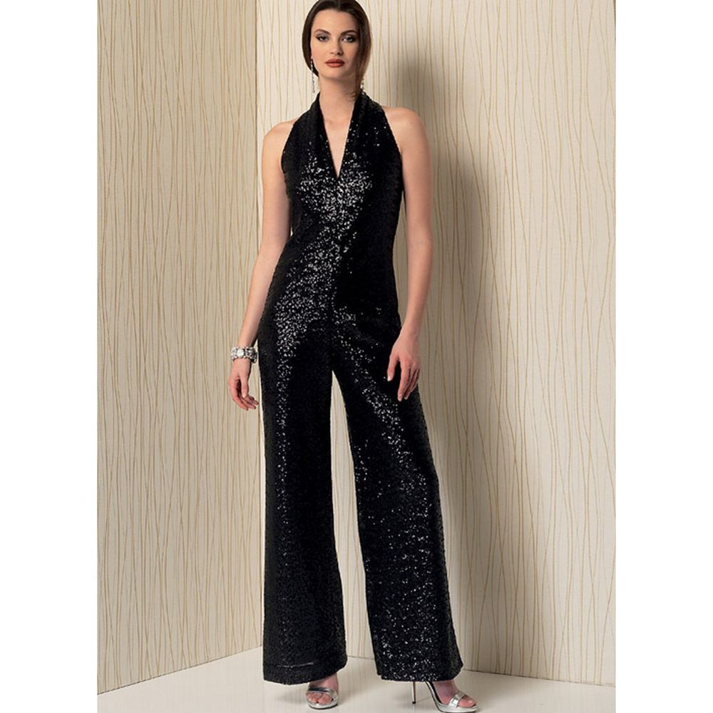 Vogue Sewing Pattern V1524 Women/'s Open Backed Belted Jumpsuit
