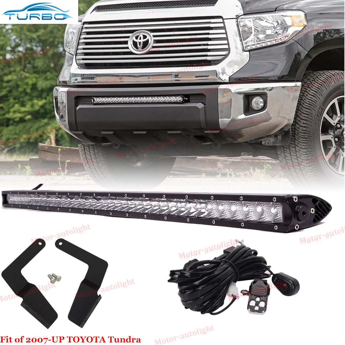 Awesome 30inch Led Light Bar W Bumper Hidden Bracket Wire Wiring Kit For 2014 17 Toyota Tundra 2017 2018