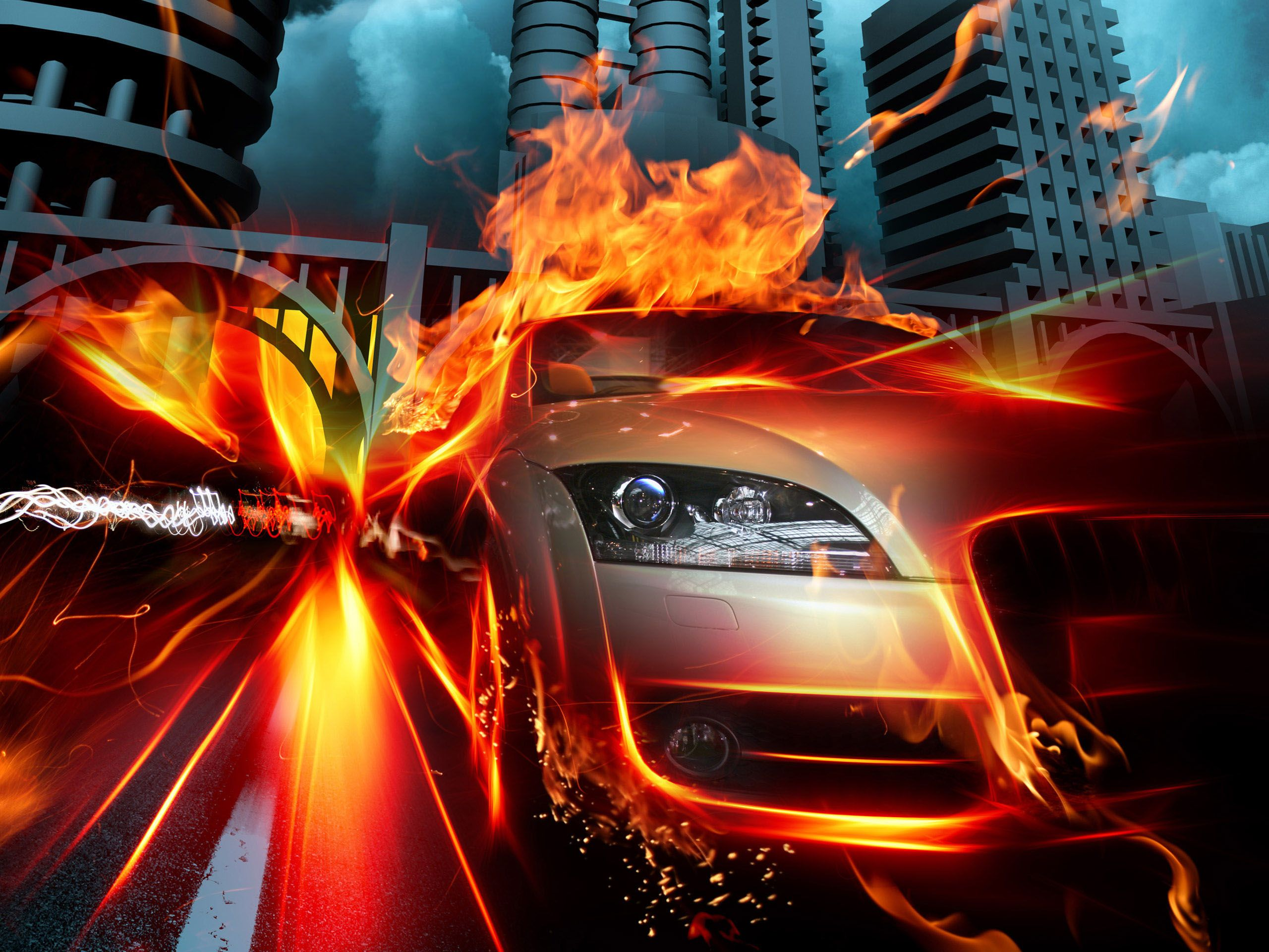 Car In Fire Hd Wallpapers Car Wallpapers Car Car Ins
