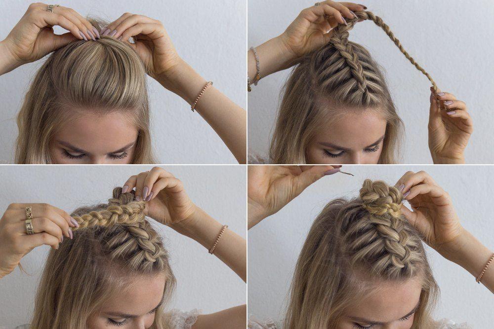 Oktoberfest Hairstyle Instructions Half Open In 2020 Oktoberfest Frisur Oktoberfest Frisuren Anleitung Mittellange Haare Flechten Anleitung