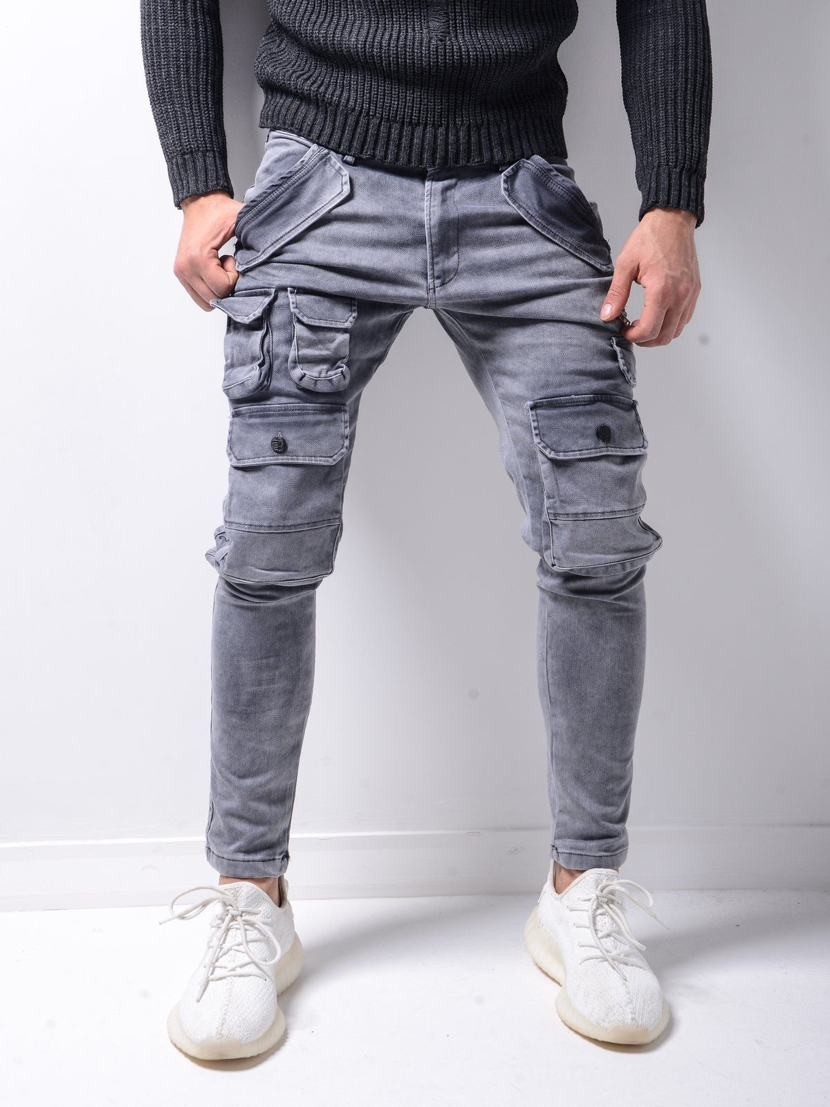 Super Cargo Jeans Washed Gray 4601 Fash Stop In 2020 Cargo Pants Outfit Men Pants Outfit Men Cargo Pants Outfit