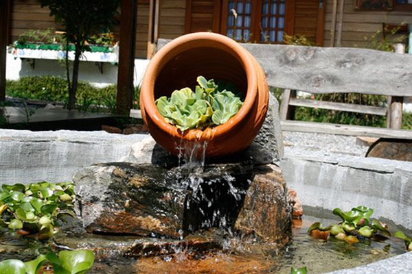 dicas de lagos e cascatas para jardim fontes estanques On recipiente para estanque