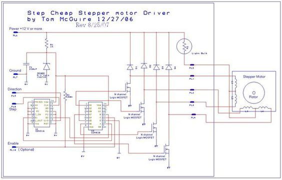 3 axis mill diagram easy to build cnc mill stepper motor and driver circuits 3d cnc  easy to build cnc mill stepper motor