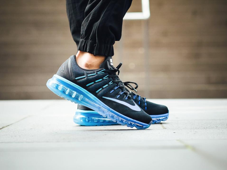 nike air max 2016 blauw zwart