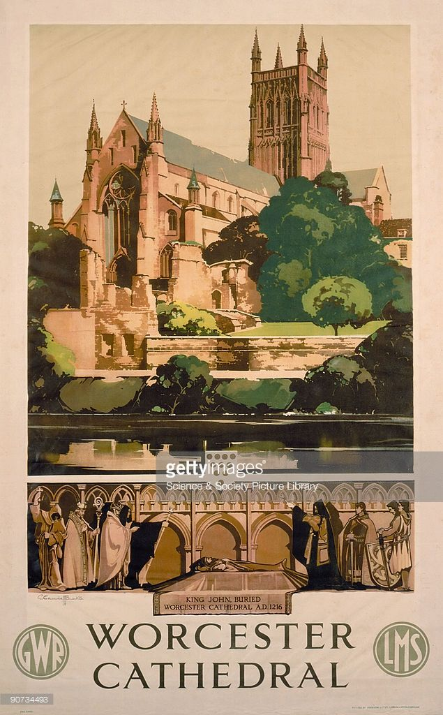 Art Ad British Railways Lichfield Cathedral  Train Rail Travel  Poster Print