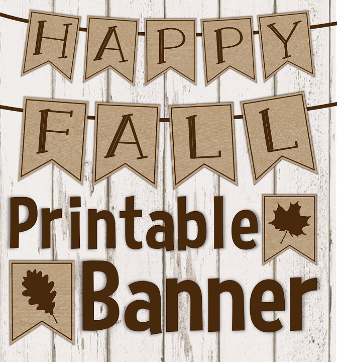 It's just a graphic of Fall Banner Printable for decoration