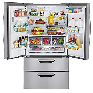 31 Cu Ft Dual Freezer Drawer French Door Stainless Steel Bottom Freezer French Door Bottom Freezer French Door Bottom Freezer Refrigerator Fridge French Door