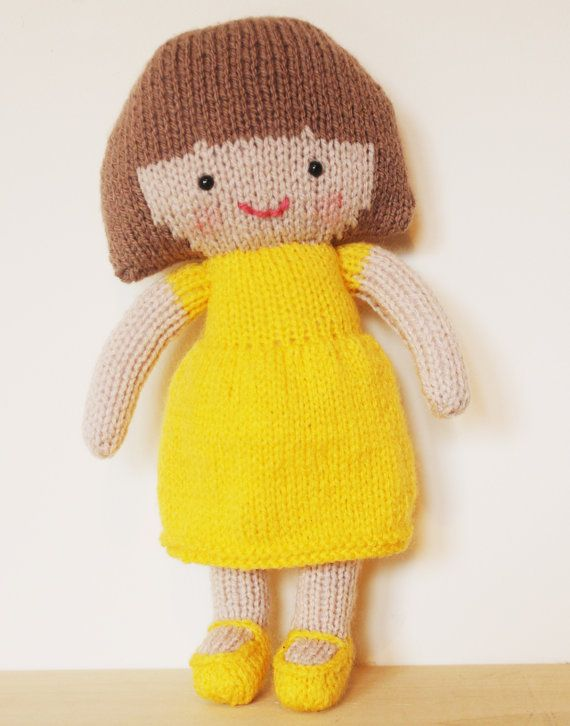 Saffron Doll Knitting Pattern Toy Rag Doll Pattern Pdf By Elfpop