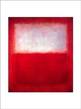 Mark Rothko - White over Red - hochertiger Kunstdruck mit vielen Fans.