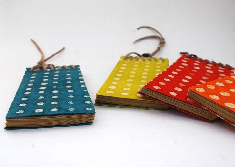Bloc notes à pois feuilles papier kraft : Carnets, agendas par carnets-perles-et-fanfreluches