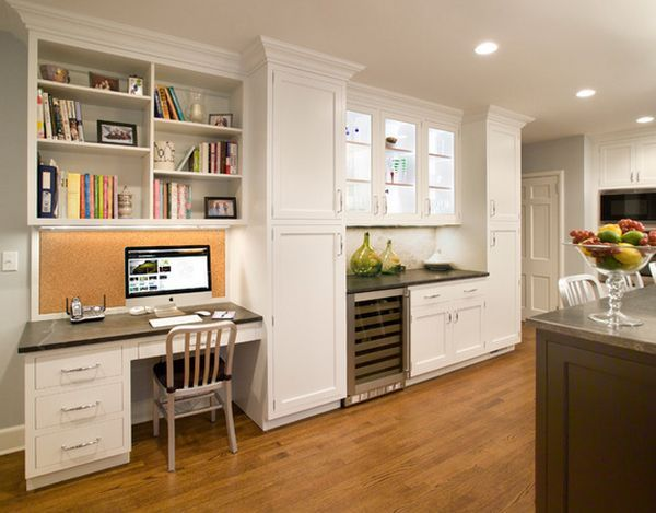 clever ideas kitchen design images. 20 Clever Ideas To Design A Functional Office In Your Kitchen