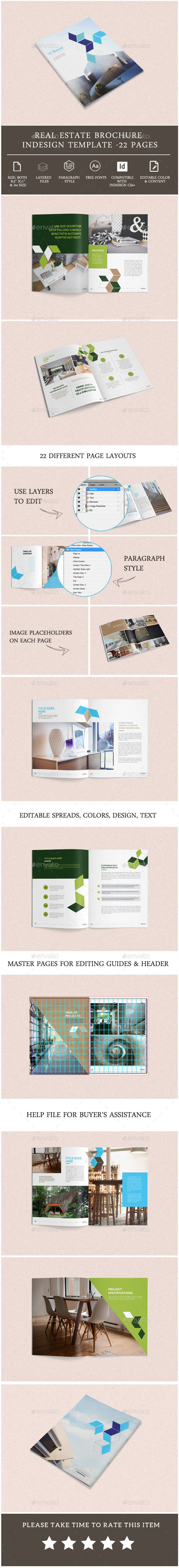 Real Estate Brochure Template  Brochure Template Brochures And