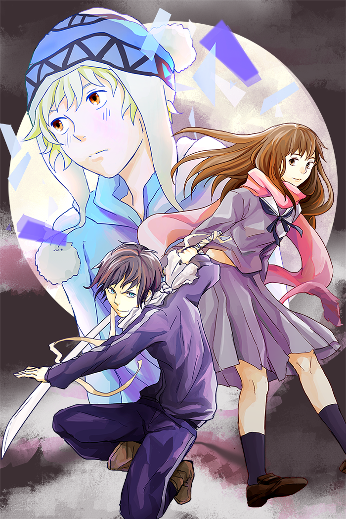 Yato, Yukine, and Hiyori [by Faiell.DeviantArt.com]