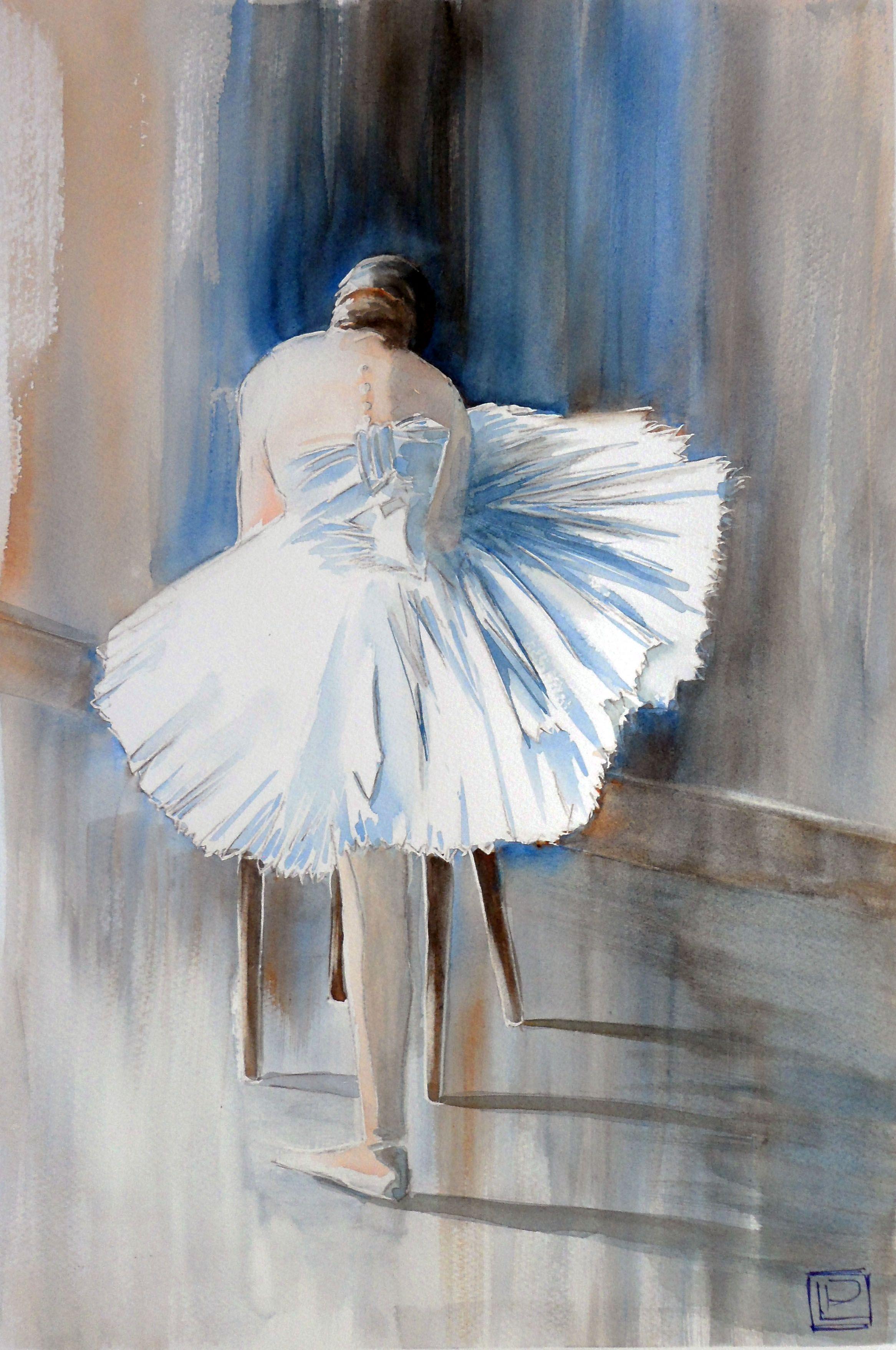 """"""" si balla """" acquerello di Lorenza Pasquali 30x45  www.lorenzapasquali.it"""